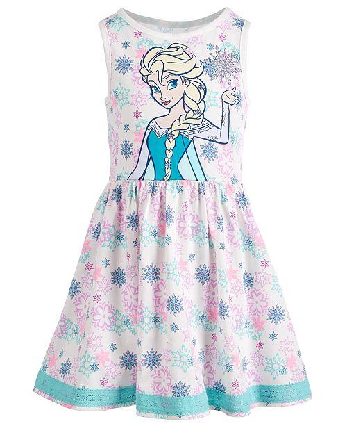 Disney Little Girls Snowflake-Print Elsa Dress