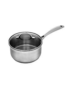 "Swiss Diamond Premium Steel Saucepan with Lid - 8"" , 3.05 QT."