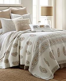 Home Gray/Beige Skylar Full/Queen Quilt Set