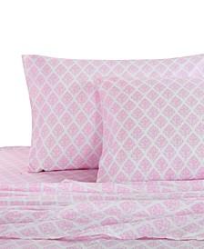 Home Pink Damask Twin Sheet Set