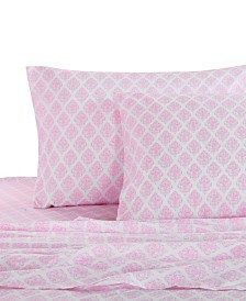 Levtex Home Pink Damask Twin Sheet Set