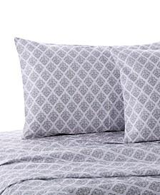 Home Gray Damask Twin Sheet Set