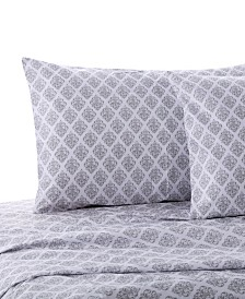 Levtex Home Gray Damask Twin Sheet Set