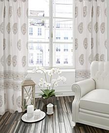 Home Gray/Beige Skylar Drape Panel
