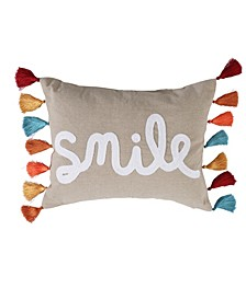 Home Amelie Smile with Tassels Pillow