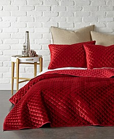 Home Red Velvet K Quilt Set