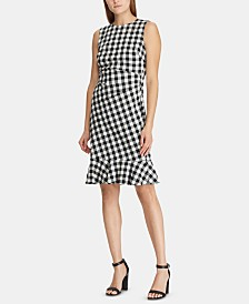 Lauren Ralph Lauren Gingham Jacquard Dress