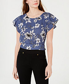 BCX Juniors' Flutter-Sleeve Top