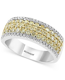 EFFY® Diamond (1-1/4 ct. t.w.) Statement Ring in 14k Gold and White Gold