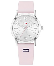 Women's Pink Silicone Strap Watch 32mm Created for Macy's