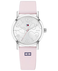 Tommy Hilfiger Women's Communion Pink Silicone Strap Watch 32mm Created for Macy's