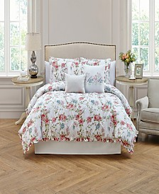 Rosette 6 Piece Twin Comforter Set