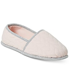 Women's Mary Cable Quilt Closed Back Slippers, Online Only