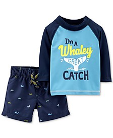 Baby Boys 2-Pc. Rash Guard Set
