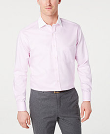 Tasso Elba Men's Classic/Regular-Fit Non-Iron Small Herringbone French Cuff Dress Shirt, Created for Macy's