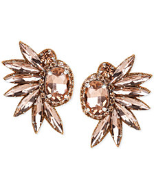Deepa Crystal Fan Stud Earrings