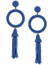 Deepa Beaded Circle & Tassel Drop Earrings