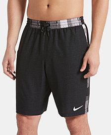"""Nike Men's 6:1 Faux-Linen Racer Stripe 9"""" Board Shorts"""