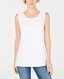 Karen Scott Cotton Tunic Tank Top, Created for Macy's