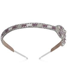 Deepa Silver-Tone Crystal & Bead Bow Headband