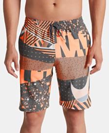 "Nike Men's Mesh Up Vital Printed Quick-Dry 9"" Swim Trunks"