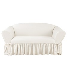 Essential Twill 1 Piece Sofa Slipcover