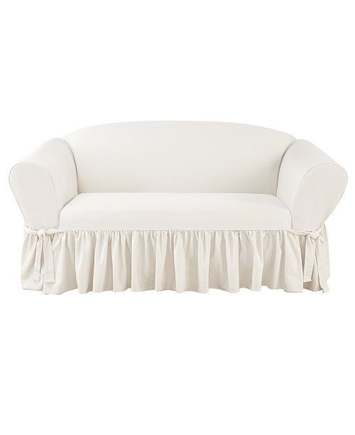 Essential Twill 1 Piece Sofa Slipcover