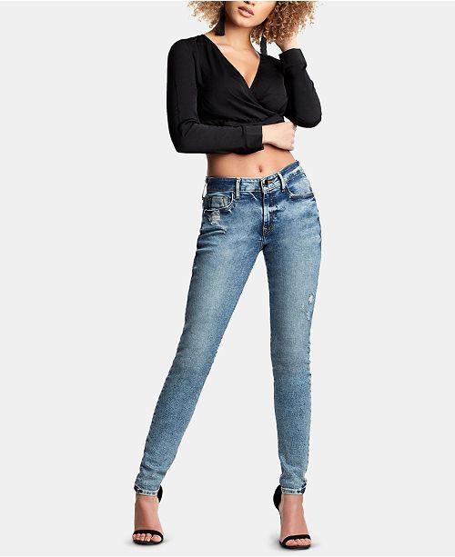True Religion Jennie Curvy-Fit Ripped Jeans