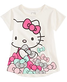 Hello Kitty Little Girls Bows-Print T-Shirt