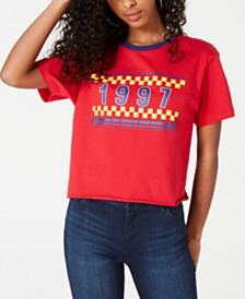 Rebellious One Juniors' 1997 Cropped Ringer T-Shirt