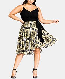 City Chic Trendy Plus Size Wrap Dress