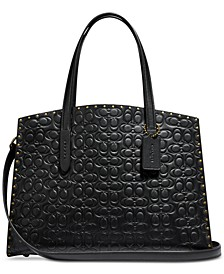 Charlie Carryall in Signature Embossed Leather with Rivets