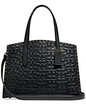COACH Charlie Carryall in Signature Embossed Leather with Rivets a931c4a2a8