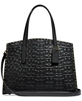 61f56f5329 COACH Charlie Carryall in Signature Embossed Leather with Rivets