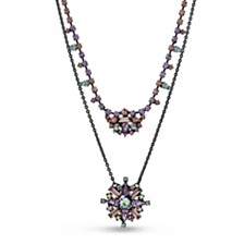 Steve Madden Layered Flower Necklace