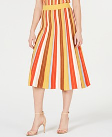 Lucy Paris Katrina Rainbow-Knit Skirt