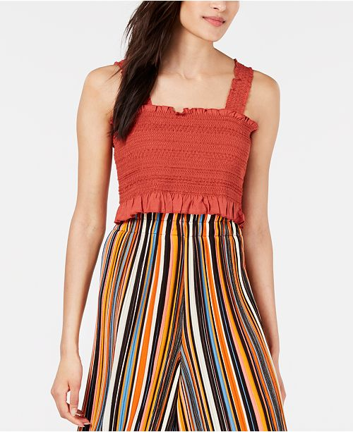 House of Polly Smocked Crop Top