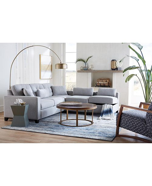 Surprising Clarke Ii Fabric Sectional Collection Created For Macys Squirreltailoven Fun Painted Chair Ideas Images Squirreltailovenorg
