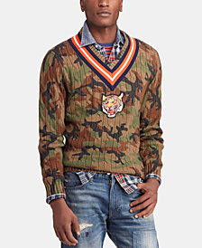 Polo Ralph Lauren Men's Camo Cricket Sweater