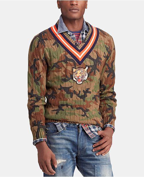 f78056138 Polo Ralph Lauren Men s Camo Cricket Sweater   Reviews ...