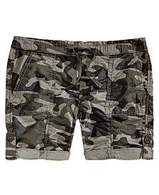 Vanilla Star Big Girls Camouflage Utility Shorts