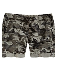 Vanilla Star Big Girls Camouflage Utility Shorts