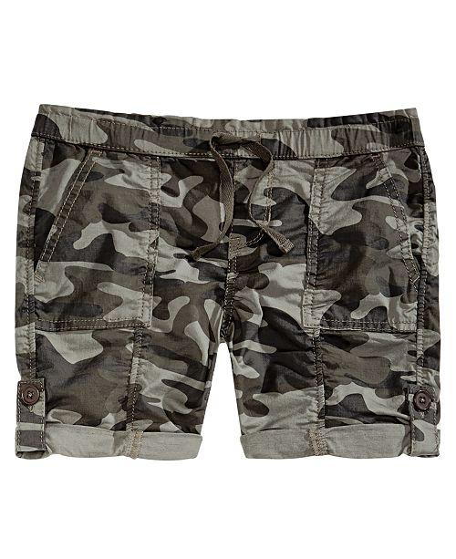 Imperial Star Vanilla Star Big Girls Camouflage Utility Shorts
