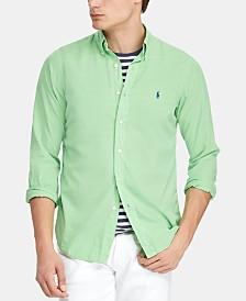 Polo Ralph Lauren Men's Slim Fit Garment-Dyed Twill Shirt