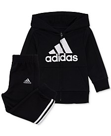 adidas Baby Boys 2-Pc. Athletics Logo Jacket & Pants Set