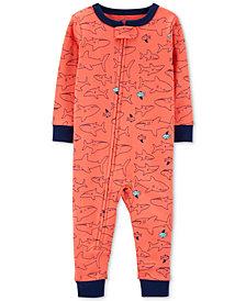 Carter's Baby Boys 1-Pc. Shark-Print Cotton Pajamas