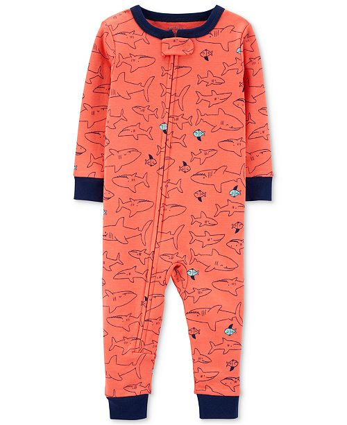 Carter's Baby Boys 1-Pc. Shark-Print Cotton Pajamas