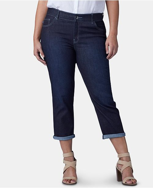 76467ec3a7 Lee Platinum Plus Size Flex Motion Capri Jeans & Reviews - Pants ...