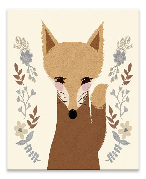Artissimo Designs Sweet Fox Printed Canvas