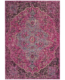 "Artisan Fuchsia and Anthracite 5'1"" x 7'6"" Area Rug"